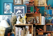 Inspiration for home / My mission is to have bohemian home with lots of books and nice little details.