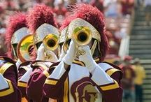 fight on! / we are Trojans- we bleed cardinal  and gold!
