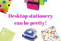 Pretty Stationery Supplies / Stationery can be pretty in the office.