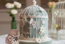 wedding cakes / innovative and alternative wedding cake: Painted,ruffled and every kind of new wedding cakes.