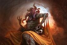 Dark Creatures and Grim Atmosphere / Chtulu, monsters, horrors and blackness.