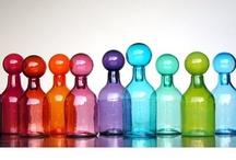 bottles    jars /   flessen ,  glazen potten / by Giny Bakker