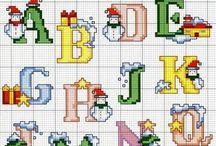 cross stitch alfabets / by Giny Bakker