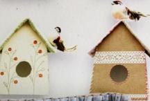 vogelhuisjes / by Giny Bakker
