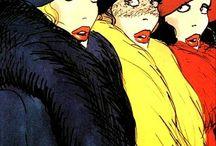 <vintage fashion illustration>