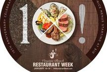 VB Restaurant Week! / The culinary event of the year is back. Virginia Beach Restaurant Week takes place January 12th - 19th with over 60 of the city's finest establishments offering specially priced two and three course meals.  Two Course Lunch: 10 | Three Course Dinner: 20 & 30  Price per person. Excludes beverages, tax & gratuity. Special Restaurant Week Menu  / by Virginia Beach | Live the Life