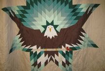 Star Quilts / Native made Star Quilts.