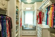 Closet Organization & Inspiration / Making the most of the storage space you have with closet organization tips and custom closet ideas and inspiration.