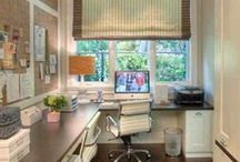 Home Office Organization / Home office ideas to reduce clutter and inspire creativity.