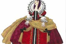 My artwork: Costume drawings / Old and new costume designs for theater and opera