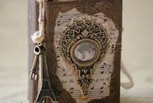 Art Journals/Altered Books / Art journaling and altered books make me happy. You can never have enough.