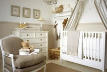 """Baby Boy Nursery / Our nursery """"theme"""" is light and airy and the colors are ivory and a very light/pale seafoamy blue with gold and black accents."""