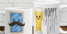 Papa Collection / alittleleafy.etsy.com  papa, papas, father's day, happy father's day, gifts for dad, dad, dads, father, fathers, funny, punny, pun, puns, illustration, dinosaurs, cute, fathers day, mugs, shirts, cards, papasaur, pops