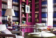 """Mulberry Library """"How to get the look"""" / 2012 Cathedral Antique Showhouse Library I designed in Atlanta, GA.  Here is how to achieve the look!"""