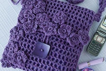 Crochet bags, purses