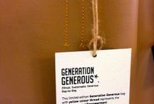 Yellow threat = Empowerment / With every bag you purchase, #GenerationGenerous will provide a girl who has fallen victim to human trafficking in #India with 1 month of English speaking courses.  The yellow colour thread that this bag is made with represents the basic life need of Empowerment.