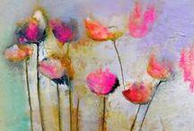 - malarstwo - martwa natura - kwiaty