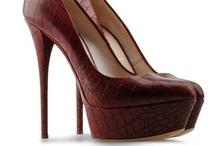 Style - Escarpins Reptile Rouge