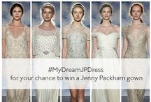 #MyDreamJPDress / Jenny Packham has teamed up with Brides UK to bring you the ultimate dream-come-true wedding competition. Using one of these five dresses as your starting point, create a board that reflects your dream wedding day: flowers, decor details, cakes and all! More details on www.BridesMagazine.co.uk / by Jenny Packham