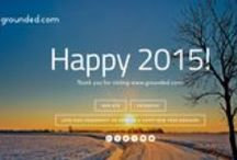 Happy Holidays! / Happy 2015! Thank you for visiting our web site @ www.grounded.com! #earthing #grounding #barefoot