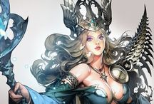 Fantasy Characters / Illustrations of fantasy characters