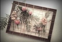 DIY - Floral up-cycled frames