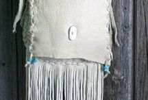 Leather Handbags / Fringed leather handbags / We have a wide variety of leather handbags made in elkskin leather . They are all custom made just for you.