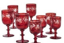 Glassware / Collections of beautiful antique and vintage glass. Predominantly from Europe and America