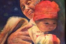 Watercolor portraits / Watercolor portrait paintings