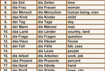 German Vocabulary / German - English vocab cards and lists