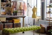 Workspace / Creative, Light, Spacious, Organized, Beautiful, Vintage, Atelier