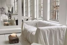 Living room / White, Scandinavian, Glamour, Eclectic, Pastel,  Beautiful, Decoration, Sofa, Chair, Vintage, Furniture, Eclectic