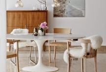 Dining / Style, Beautiful, Lot of White, Design, Vintage, Eclectic, Chair, Table