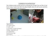 Fun recipes / make your own play dough, paint or glue.