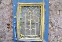 Really lovely doors.. Just add a garden.. / Taken from my travels to Chania, Crete