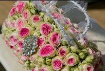 Wedding Flower arm candy.. / Our bespoke bridal floral handbag..