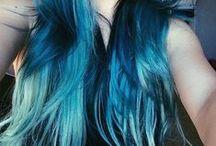 Bright hair color / colour dye ideas ♥ / Unnatural / Unhuman hair dye colours / colors ♥ from platinum blonde to aubergine ^^