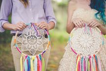 Boho Wedding / Bohemian, hippie, artistic wedding. Think windflowers, braids, feathers, sunshine, tambourines, wind chimes, nature, kick backed vibes, positivity, exotic touches, lots of color and a sense of fun.  We can help you find your perfect boho wedding dress at The Gilded Gown Knoxville TN