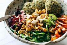 Food / Food inspiration. Healthy and Naughty treats