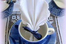 Napkin Folds / Serviette; a table napkin