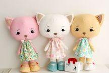 hračky - šité / hračky, hand made, šité hračky, pro děti, nápady a inspirace