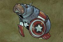Super Heros / Superhero Parodies, Portraits, and Pictures.
