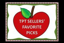 TPT Sellers' Favorite Picks / Our favorite resources to share with teachers and parents! Pinners- please pin your best products and your favorites- up to 4 a day! Don't forget to add free resources!