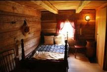 Log Cabin interiors / Rustic inspiration for your offgrid hideaway. Swedish and International.