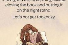 Books, books, books and more books.