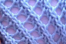 VIDEOS, puntadas-tricot-crochet / Vídeos de tejidos crochet y 2 agujas, puntadas, ideas