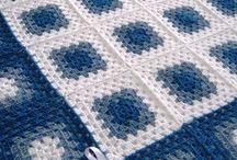 MANTAS, para bebe, cobijas,  cojines, crochet afghan, kinnit / Faciles mantas tejidas, cojines, almuadones / by Claudia