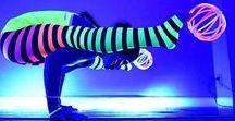 Glowga / 2017's Newest fitness trend; GLOW IN THE DARK YOGA! Glowga!