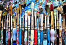 For the love of Art! / Creating art of any kind strengthens the right side of the brain.