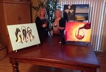 Paint Parties / Step-by-step painting, no experience necessary. Team Building.